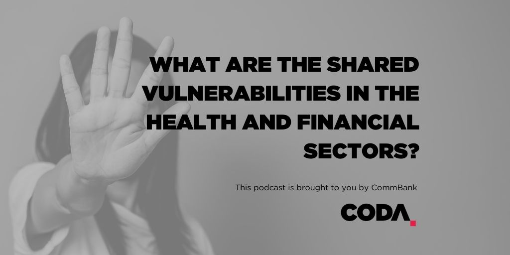 Shared vulnerabilities in the health and financial sectors